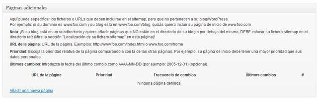 Artículos y post adicionales en sitemaps con Google XML Sitemaps