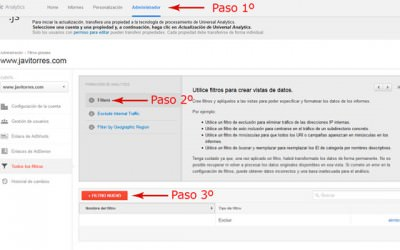 Filtro Google Analytics para no incluir ip