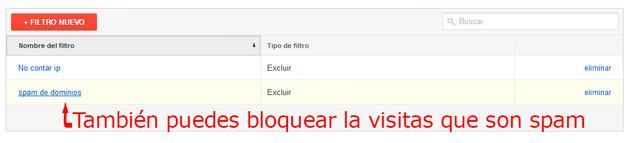Tercer paso de cómo crear un filtro en Google Analytics para no contar mi ip