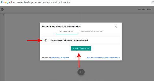 Cómo indexar una página web en Google con la Herramienta de pruebas de datos estructurados