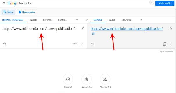 Trucos para indexar una página en Google con Translate