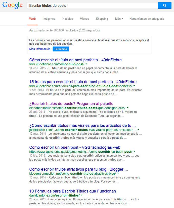 resultado titulos google