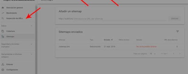 Indexar página web en Google, enviar url